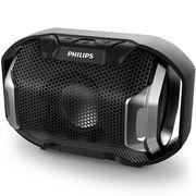飞利浦 SB300B 无线蓝牙音箱 便携迷你音响 兼容苹果/三星手机/电脑/车载小音响 免提通话 黑色