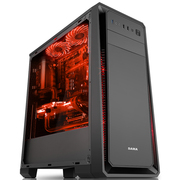 先马 塞恩1 台式电脑机箱 大侧透/205mm宽大箱体/独立电源仓/支持ATX主板、SSD、水冷、长显卡、背线