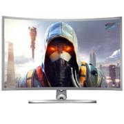 技讯(GVNXUHI) JXQ3206 31.5英寸曲面办公娱乐一体机电脑(酷睿i7-2620M 集显 4G内存 120G固态 无线键鼠 WIFI)银灰色