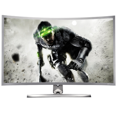 技讯(GVNXUHI) JXQ3205 31.5英寸曲面办公娱乐一体机电脑(酷睿i5-2520M 集显 4G内存 120G固态 无线键鼠 WIFI)银白色产品图片1