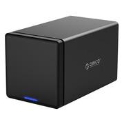 ORICO NS400U3 四盘位3.5英寸USB3.0硬盘柜SATA3.0串口台式机硬盘存储柜 支持1-8TB机械硬盘 黑色