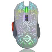 黑爵 GT游戏鼠标 RGB炫彩循环呼吸灯 流光版白色