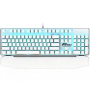 ROYAL KLUDGE 920手托可拆卸插拔轴机械键盘 白色 青轴 冰蓝光