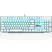 ROYAL KLUDGE 920手托可拆卸插拔轴机械键盘 白色 青轴 冰蓝光产品图片主图