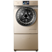比佛利 BVL1D100G6 10公斤大容量智能洗烘一体变频滚筒洗衣机(金色) 精准自动投放 水魔方水流
