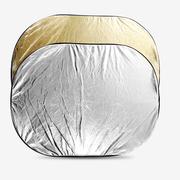 天气不错 二合一椭圆形反光板/档光板 金色/银色 摄影摄像反光板 60x90cm