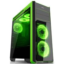 先马 塞恩5豪华版 电脑机箱 双面钢化玻璃/宽体/亚克力全侧透/配3把风扇/支持SSD硬盘、长显卡、水冷产品图片主图