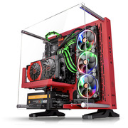 Thermaltake Core P3 红色 壁挂水冷机箱(开放式机箱/水冷DIY新视野/模块化/双U3/ATX机箱)