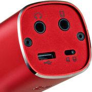 唱吧 麦克风AQUA 红色 手机麦克风 手机k歌专用麦克风 苹果+安卓手机录音 yy话筒