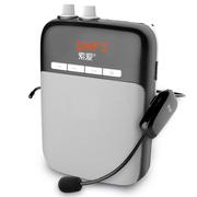 索爱 S-708 UHF无线扩音器 大功率小蜜蜂扩音器教学专用教师导游 插卡式便携式数码播放器 钢琴黑
