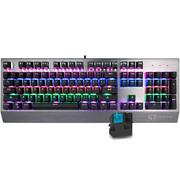 多彩 KM02游戏机械键盘凯华青轴104键全键无冲背光 黑灰色