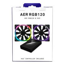 NZXT 恩杰  Aer RGB 120&Hue+套装(120mm RGB风扇两枚&Hue+灯光控制器一个/可变色可编程/大风量/静音)产品图片主图