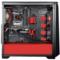 追风者 416PSTG 黑红色 中塔式机箱(ATX钢化玻璃静音版/RGB灯控/调速主动降噪/支持280水冷)产品图片4