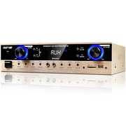 先科 D60 家庭影院 专业定阻大功率AV功放机家用电视音响放大器 (黑色)