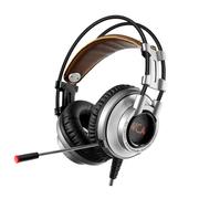 西伯利亚 K9 USB发光头戴式带麦克风电脑电竞游戏耳机 灰色