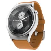 土曼 3代智能手表tomos系统兼容安卓苹果华为小米等可电话定位计步心率金融股票男女款银色拉丝
