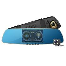 任e行 D3-LD 双镜头行车记录仪高清1080P后视镜倒车影像二合一测速一体机产品图片主图