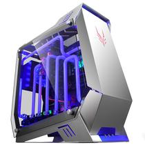 金河田 银狐 水冷游戏机箱 (ATX/钢化玻璃全侧透/双U3/支持360水排)产品图片主图