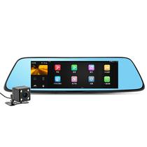 凌度 HS710行车记录仪 8吋 智能后视镜 高清屏导航 语音控制一体机产品图片主图