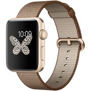 苹果 Watch Sport Series 2智能手表(42毫米金色铝金属表壳搭配咖啡配焦糖色精织尼龙表带 MNPP2CH/A)