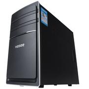 神舟  新瑞E20 D7S 商用台式电脑主机 (赛扬双核G1840 4G 1T HDD)黑