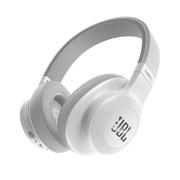 JBL E55BT 白色 可折叠便携头戴式蓝牙耳机 无线立体声音乐耳机