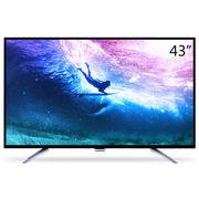 飞利浦 43PUF6061/T3 43英寸 64位十一核4K超高清智能电视机(黑色)