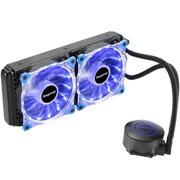 鑫谷 水凌霜240 一体式水冷CPU散热器(LED灯光/多平台通用/4针智能温控风扇/带硅脂/240冷排)