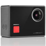 乐视 GENE 4K运动直播相机 LIVEMAN C1 67g 显示屏 隐藏式镜头 可拼接全景 黑色