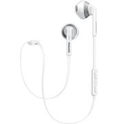 飞利浦 SHB5250WT 耳塞入耳式耳机 无线蓝牙运动耳麦 游戏/音乐/手机耳机数码配件 白色