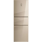 美菱 BCD-266WP3BX 266升三门冰箱 0.1度恒温变频 风冷无霜 无边框钢化玻璃 新能效一级(菱纱金)