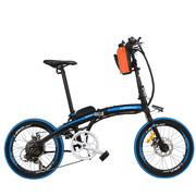 蓝克雷斯 电动自行车20寸36/48V锂电动折叠自行车成人代驾助力车电动车 48V12a/20寸黑蓝色