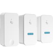 领普科技(linptech) 自发电无线门铃G4  一拖二 防水无线遥控学习对码超低功耗 (一个发射端二个接收端)