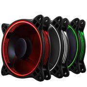 乔思伯 FR-331 12CM机箱风扇 RGB风扇 三风扇套装 (LED RGB 256色发光风扇/手动高速低速切换)