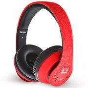 萌奇 魔鬼猫音魔耳机 头戴式HiFi耳机 支持音乐/游戏/手机/电脑 带麦克风线控-绚丽红