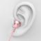 兰士顿 F9耳机入耳式金属重低音唱歌带麦手机耳塞线电脑运动通用 玫瑰金产品图片4