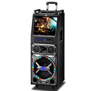 双诺 声美HJ-302 12寸低音15寸显示屏 电瓶拉杆音箱 户外便携式广场舞音响带显示屏 大功率扩音器