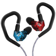 威索尼克 NEW VSD5S 入耳式隔音HiFi耳机 红蓝双色