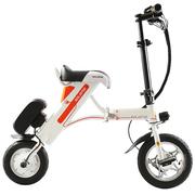 索罗门 电动车 锂电池迷你折叠式 小电动自行车代步电瓶车代驾单车 K1-白色 30km