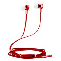 机乐堂(JOYROOM) JR-ET505 金属入耳式重低音手机耳机 线控带麦 立体声音乐 手机平板通用 红色产品图片主图