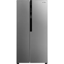 美的  BCD-435WKPZM(E) 435升变频风冷智能 66.6cm薄身对开门冰箱 电脑控温(APP远程控制)睿智银产品图片主图