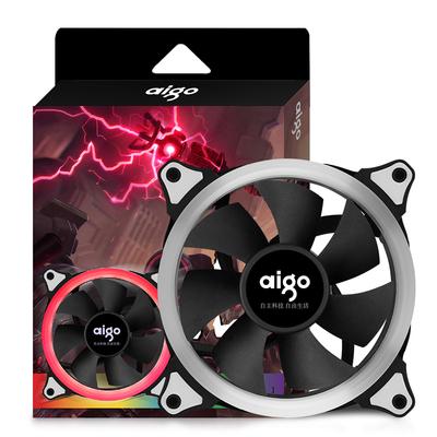 爱国者  极光RGB 12CM机箱风扇(小6针接口/支持多种风扇控制器/减震脚垫/赠4螺丝)产品图片4