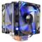 超频三 东海X6 CPU散热器 (多平台/5热管/12cm双风扇/蓝光智能/cpu风扇/附带硅脂)产品图片1