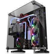 Thermaltake Core P5 TG 黑色 中塔机箱(支持ATX主板/5mm強化玻璃/开放式全景/弹性安装/模组化/双U3)
