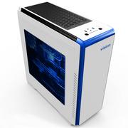 至睿 创客TX12 白 游戏电脑机箱(LED灯光/独立电源仓/大侧透/240MM水冷位)