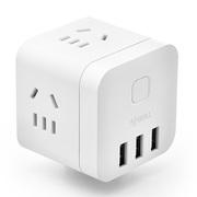 公牛 GN-U303UW 无线魔方USB插座 转换器 3USB接口+3插孔、小巧便携