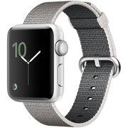 苹果 Watch Sport Series 2智能手表(38毫米银色铝金属表壳搭配珍珠色精织尼龙表带 MNNX2CH/A)
