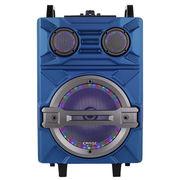 雅兰仕 V51 蓝牙户外便携音箱 带LED灯无线遥控话筒扩音器 大功率广场舞拉杆音响 蓝色