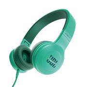 JBL E35 青色 头戴式耳机 有线耳机带麦