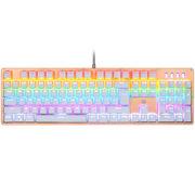 惠普 GK100插拔轴混光 机械键盘104键有线USB游戏机械键盘 青轴 白色版